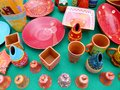 Colored ceramic objects Royalty Free Stock Photos