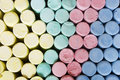 Colored chalks photo of close up Stock Photos