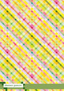 Colored checkered background pink and yellow Stock Photo