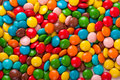 Colored chocolate candy many small in glaze Stock Photography