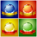 Colored Christmas balls Royalty Free Stock Photography