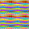Colored circle rows seamless background irregular aligned balls in rainbow colors tile Stock Images