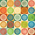 Colored circle seamless pattern with grunge effect eps Royalty Free Stock Images