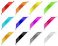 Colored corner ribbons Royalty Free Stock Photo