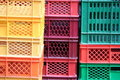 Colored crates Royalty Free Stock Images