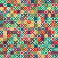 Colored crosses seamless pattern with grunge effect eps Royalty Free Stock Photography