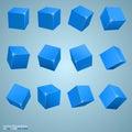 Colored Cubes 3d Art Object