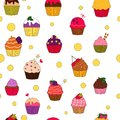 Colored cupcakes pattern