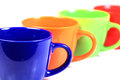 Colored cups Royalty Free Stock Photo