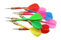 Colored Darts Royalty Free Stock Photography
