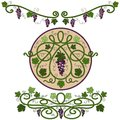 Colored decorative elements with a vine Stock Photo