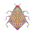 Colored decorative image of a beetle.