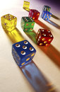 Colored dice casino in a las vegas in nevada in the united states of america Stock Photos