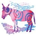 Colored Donkey