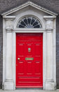Colored door in Dublin from Georgian times (18th century) Royalty Free Stock Image