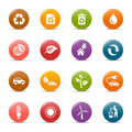 Colored dots - Ecological Icons Stock Photos