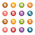 Colored dots - File format icons Royalty Free Stock Images