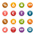 Colored dots - Finance icons Stock Photography