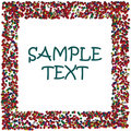 Colored dots frame with space for sample text Royalty Free Stock Image