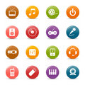 Colored dots - Media Icons Royalty Free Stock Photo