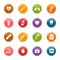 Colored dots - Medical Icons Royalty Free Stock Photography