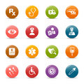 Colored dots - Medical Icons Stock Photography