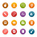 Colored dots - School Icons Stock Photo