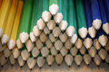 Colored drawing pencils in a variety of colors Royalty Free Stock Photo