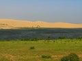 Colored dunes near Phan Thiet, Vietnam