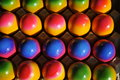 Colored easter eggs at a street stall in erlangen germany Royalty Free Stock Photography