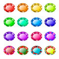 Colored faceted stones Royalty Free Stock Photo