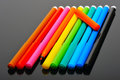 Colored felt pens Stock Photos