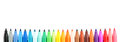 Colored felt tip pens set of Royalty Free Stock Photos