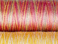 Colored fibre texture spools macro photography Royalty Free Stock Images