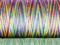 Colored fibre texture spools macro photography Stock Photography