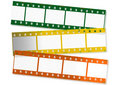 Colored film strips Royalty Free Stock Image