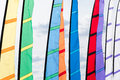 Colored flags waving in the wind Royalty Free Stock Photo