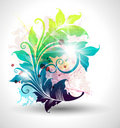 Colored floral background Royalty Free Stock Image
