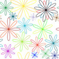 Colored flowers abstract pattern Stock Image