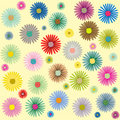 Colored flowers pattern Royalty Free Stock Images