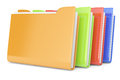 Colored folders on white d rendered image Royalty Free Stock Photos