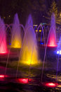 Colored fountain Royalty Free Stock Photo