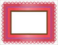 Colored frame in Moroccan style Royalty Free Stock Photography