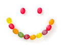 Colored fruit candies in the shape of smiley Royalty Free Stock Photo
