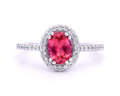 Colored gemstone ring Royalty Free Stock Photo