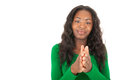 The colored girl is clapping Royalty Free Stock Photo