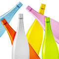 Colored glass bottle Stock Images