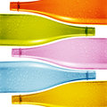 Colored glass bottle Stock Photo