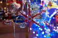 Colored glass stars christmas time abstract Royalty Free Stock Photo