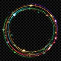 Colored glowing rings Royalty Free Stock Photo